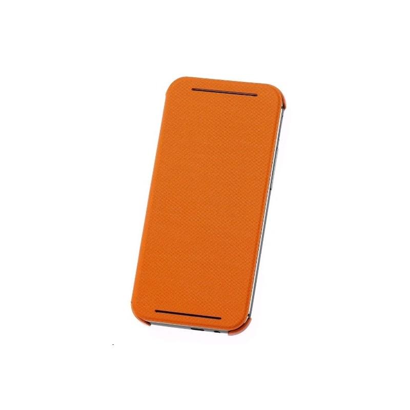 HC-V941 - Etui One M8 Double Dip Flip Pomarańczowy