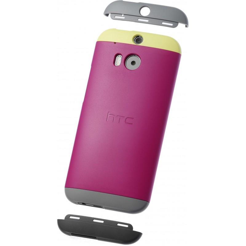 HC-C940 - Etui One M8 Żółty/Różowy
